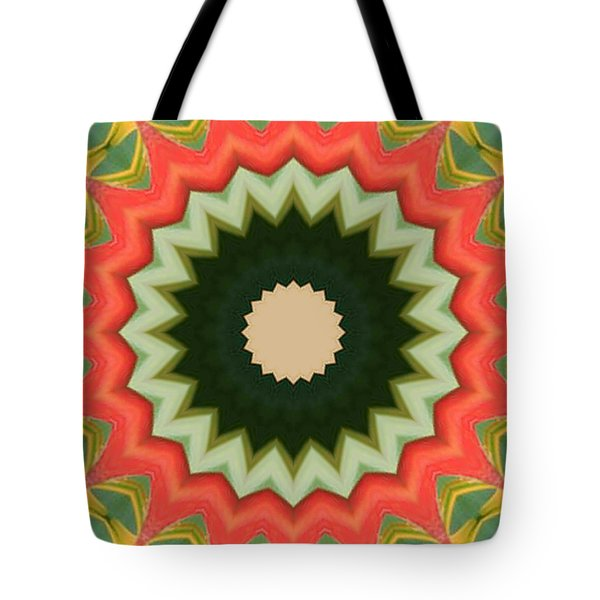 Tote Bag featuring the photograph Bird Of Paradise Kaleidoscope by Bill Barber