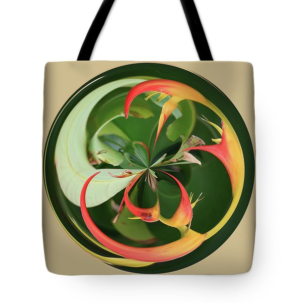 Bird Of Paradise Orb Tote Bag by Bill Barber
