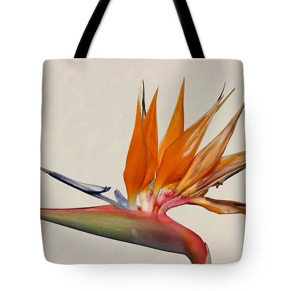 Bird Of Paradise With White Background Tote Bag