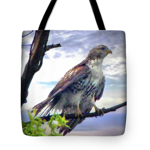 Bird Of Prey Tote Bag by Cedric Hampton