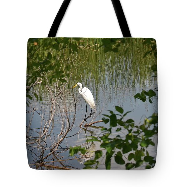 Tote Bag featuring the photograph Bird On A Branch by Carol  Bradley