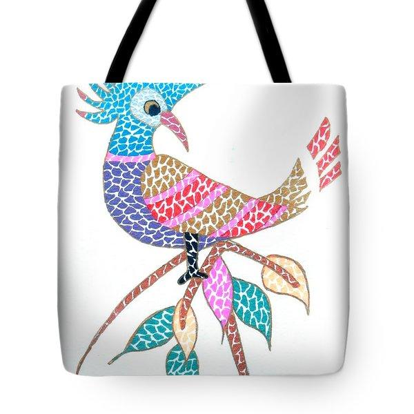 Bird On A Branch Tote Bag by Kruti Shah