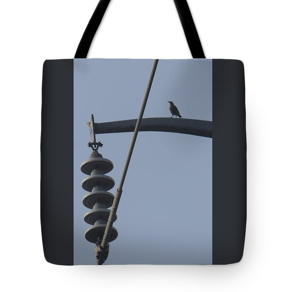 Bird On A High Wire Tote Bag