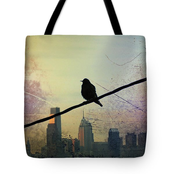 Bird On A Wire Tote Bag by Bill Cannon