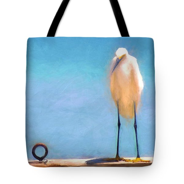 Bird On The Rail Tote Bag