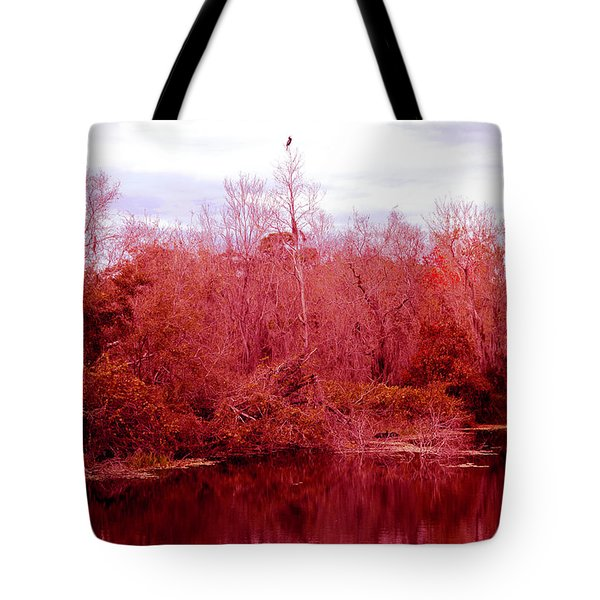 Tote Bag featuring the photograph Bird Out On A Limb by Madeline Ellis