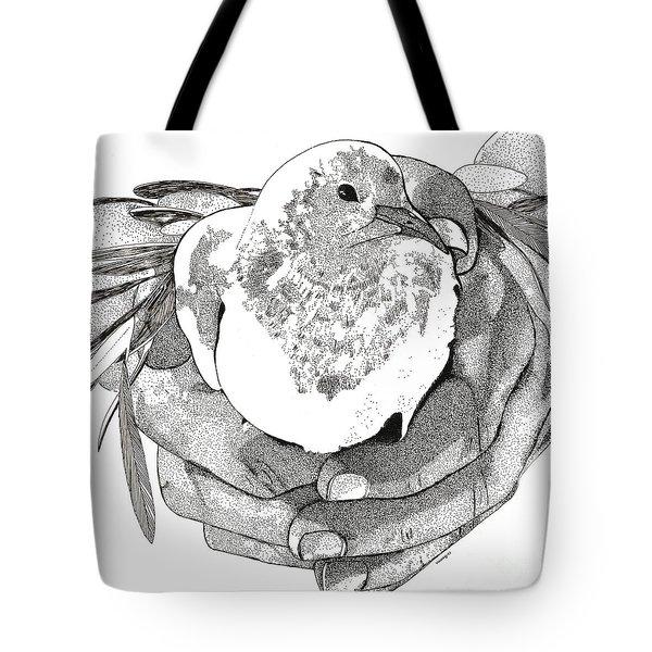 Bird Peace Tote Bag