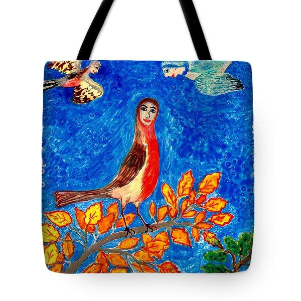 Bird People Robin Tote Bag by Sushila Burgess