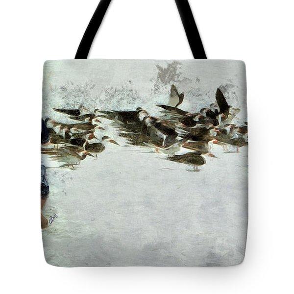 Bird Play Tote Bag
