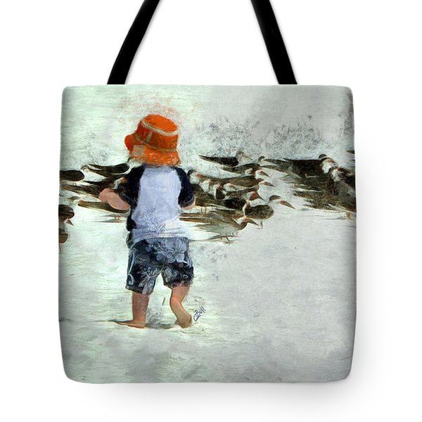 Tote Bag featuring the photograph Bird Play by Claire Bull