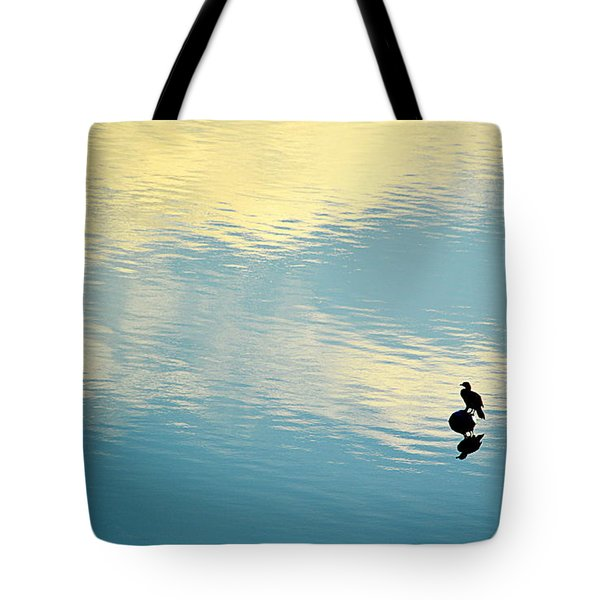 Bird Reflection Tote Bag