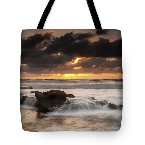 Bird Rock Clearing Storm Tote Bag