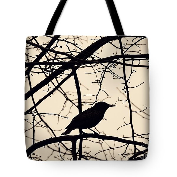 Bird Silhouette Tote Bag by Sarah Loft