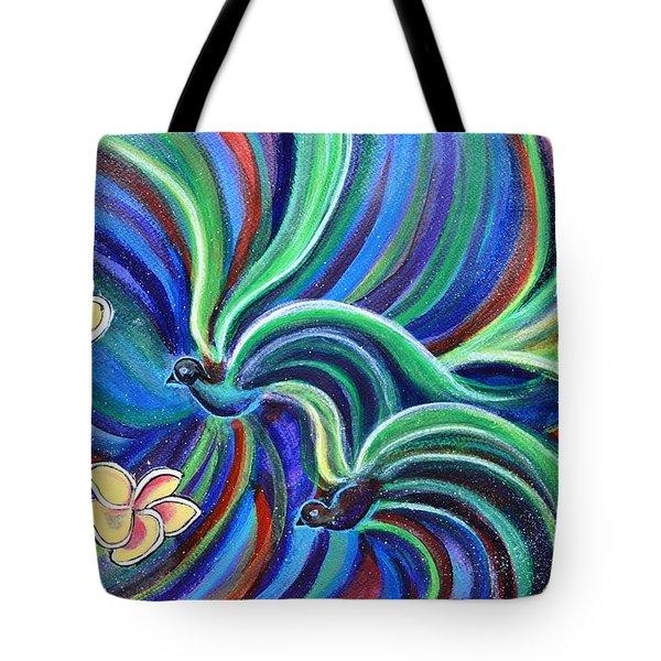 Bird Symphony With Frangipani Tote Bag