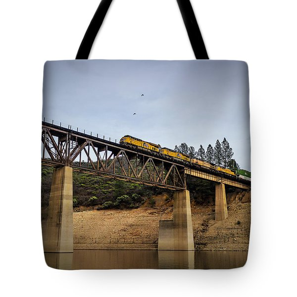 Bird Vs Train Tote Bag