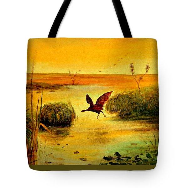 Bird Water Tote Bag by Henryk Gorecki