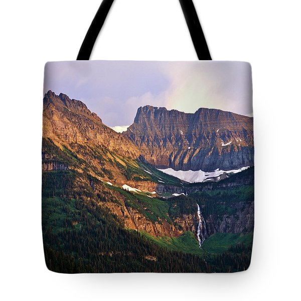 Bird Woman Falls Sunset Tote Bag