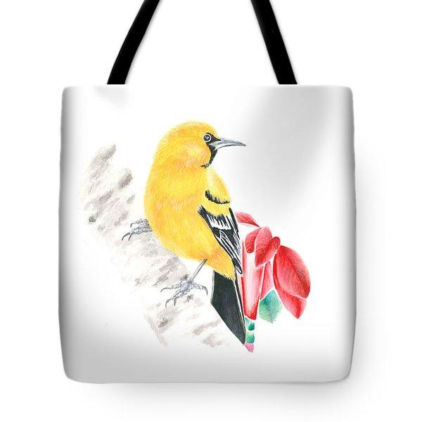 Bird In Yellow Tote Bag
