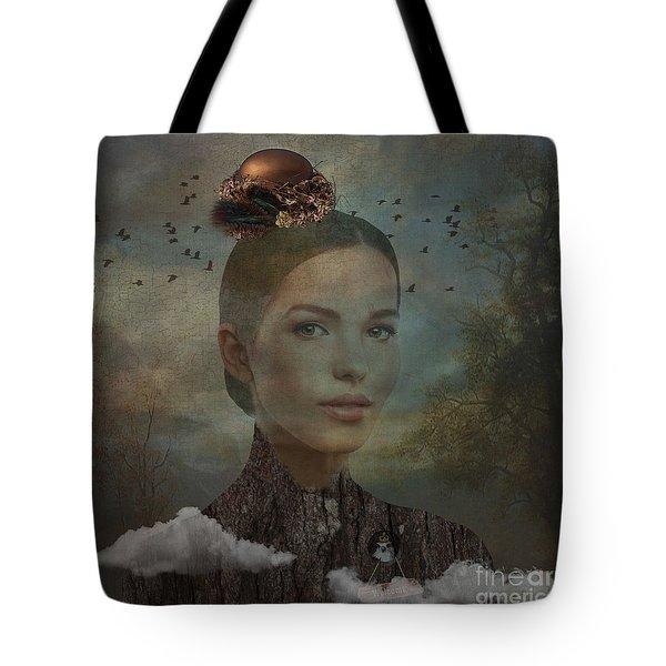 Tote Bag featuring the digital art Birder by Nola Lee Kelsey