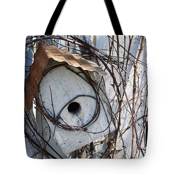 Birdhouse Brambles Tote Bag by Lauri Novak