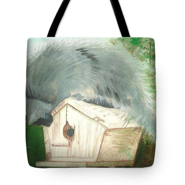 Tote Bag featuring the painting Birdie In The Hole by Denise Fulmer
