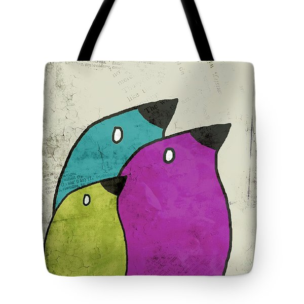 Birdies - V06c Tote Bag by Variance Collections
