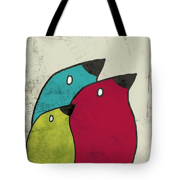 Birdies - V101s1t Tote Bag by Variance Collections