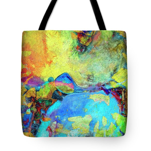 Tote Bag featuring the painting Birdland by Dominic Piperata