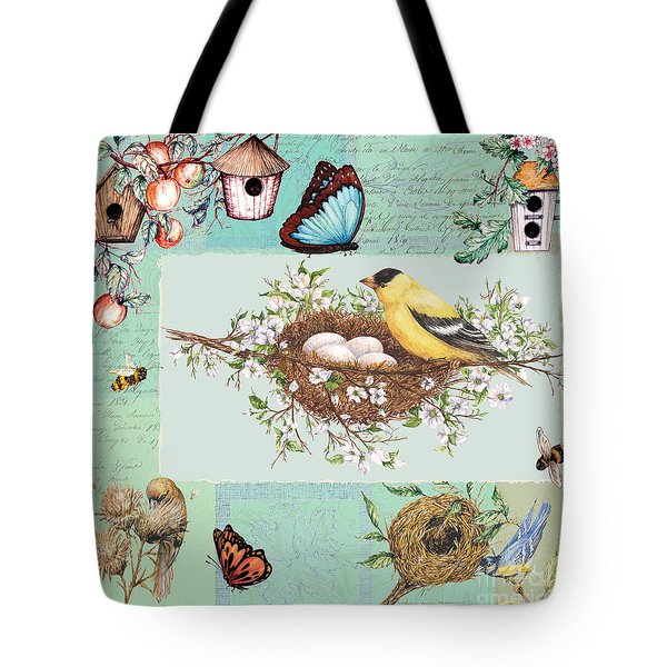 Birds And Bees Tote Bag