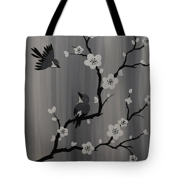 Birds And Blossoms Tote Bag