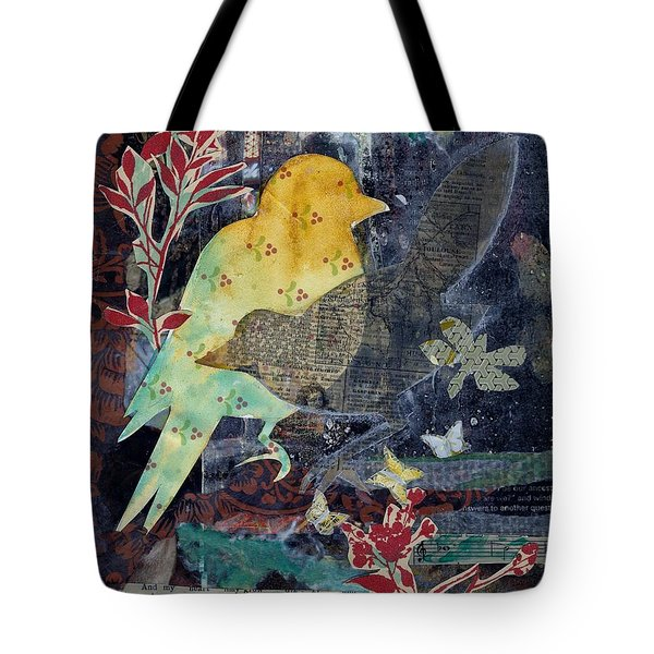Birds And Butterflies Tote Bag