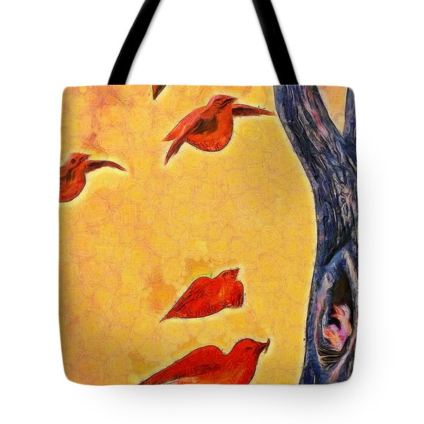 Birds And Tree - Pa Tote Bag