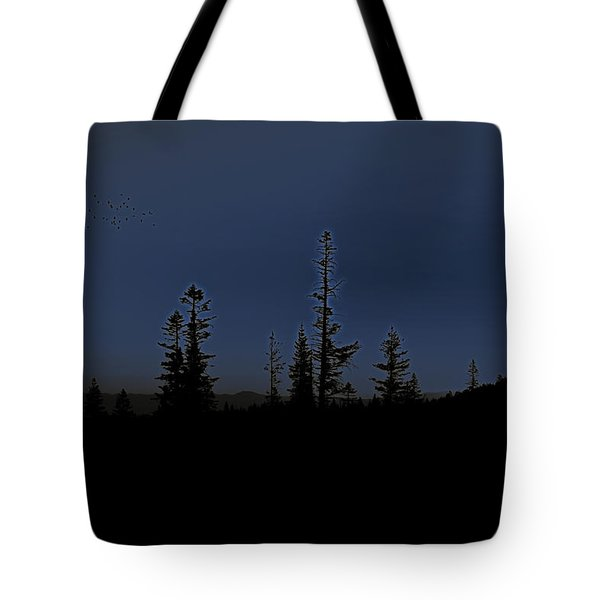 Birds Are Leaving Tote Bag