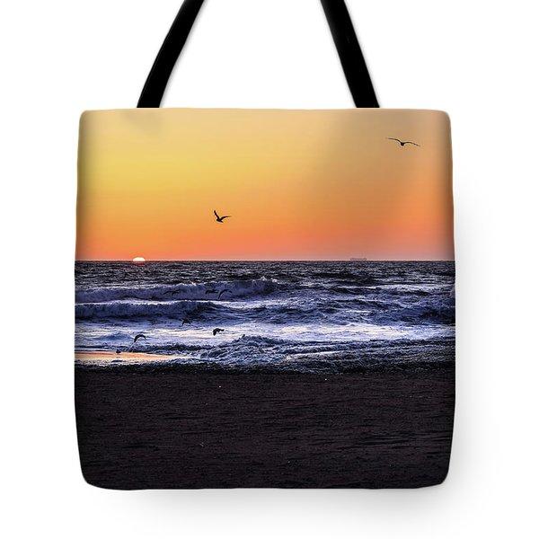 Birds At Sunrise Tote Bag