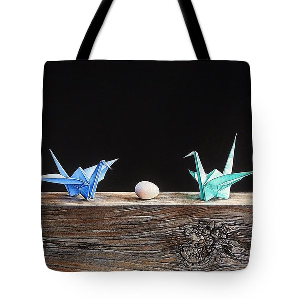 Birds Tote Bag by Elena Kolotusha