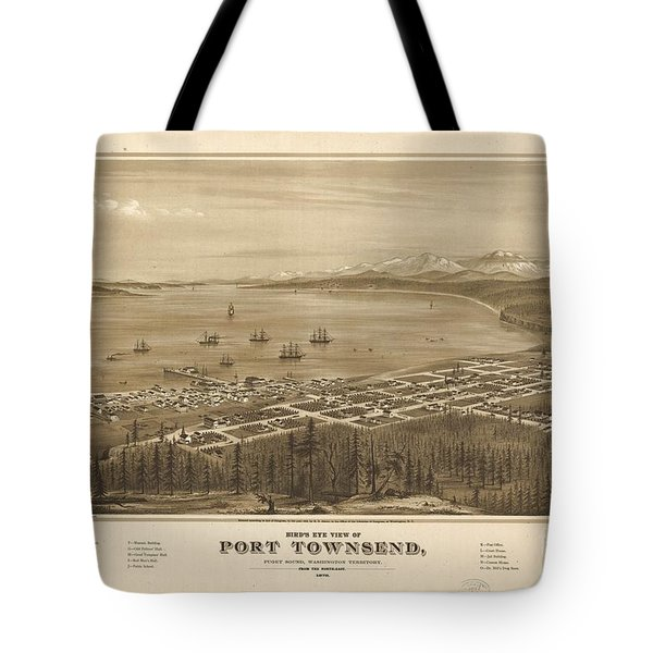 Bird's Eye View Of Port Townsend Tote Bag