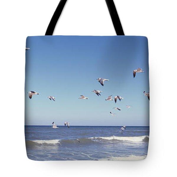 Birds Flying Over The Sea, Flagler Tote Bag