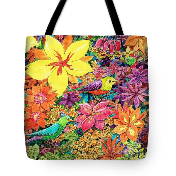 Birds In Paradise Tote Bag by Charles Cater