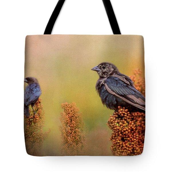 Birds In The Milo Crop Tote Bag