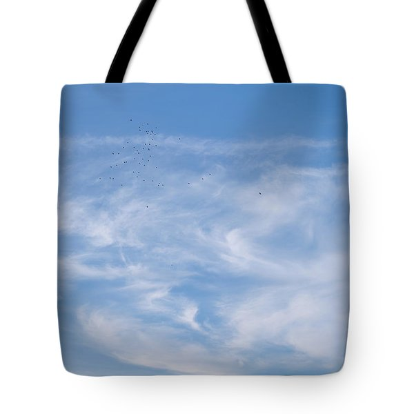Tote Bag featuring the photograph Birds In The Sky by Jenny Rainbow