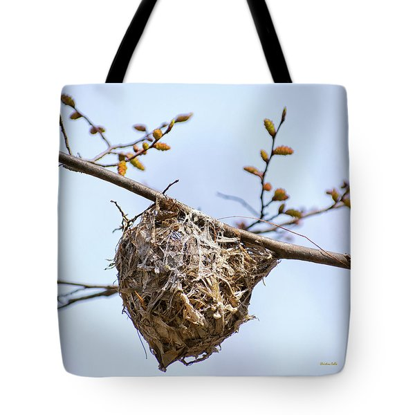 Tote Bag featuring the photograph Birds Nest by Christina Rollo