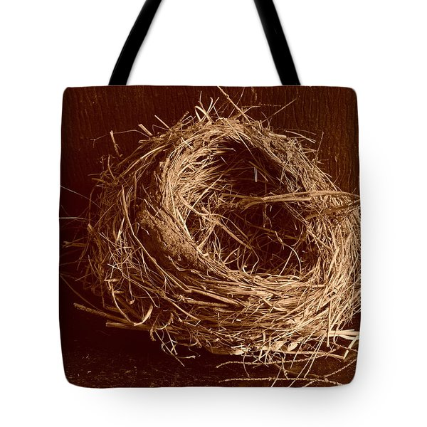 Bird's Nest Sepia Tote Bag