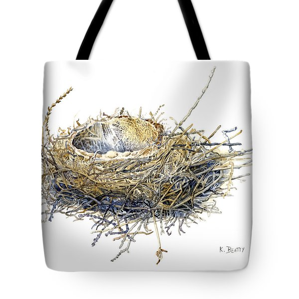 Bird's Nest Watercolor Painting Tote Bag