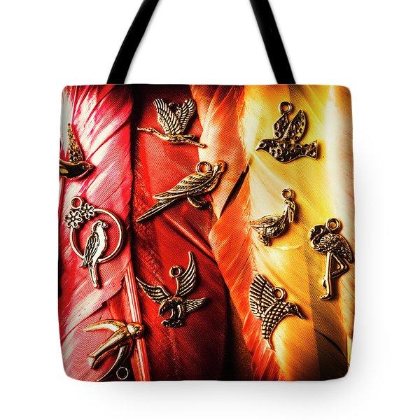 Birds Of A Decor Feather Tote Bag