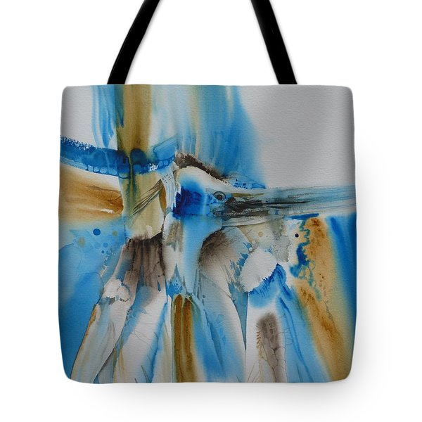 Bird's Of A Feather Tote Bag by Donna Acheson-Juillet