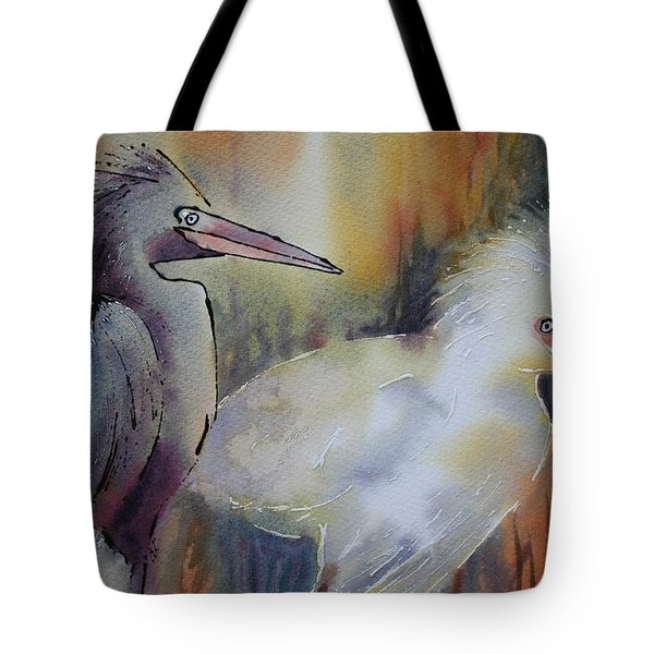 Birds Of A Feather Tote Bag by Tara Moorman