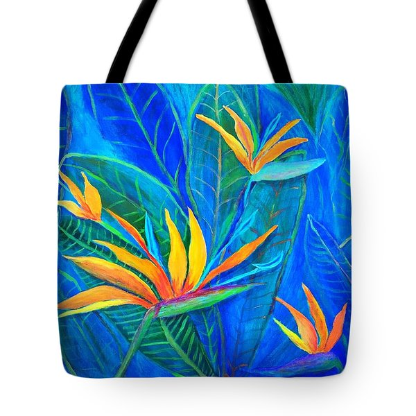 Birds Of Paradise In Florida Tote Bag