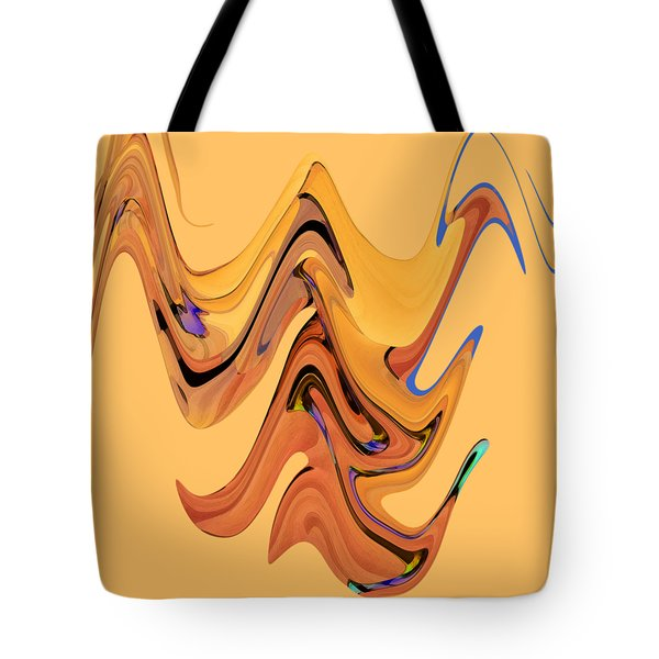 Tote Bag featuring the digital art Birds Of Paradise Improvisation by Gina Harrison
