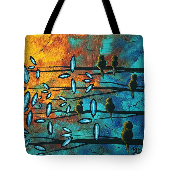 Birds Of Summer By Madart Tote Bag by Megan Duncanson