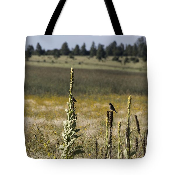 Tote Bag featuring the photograph Birds On Stands by Laura Pratt